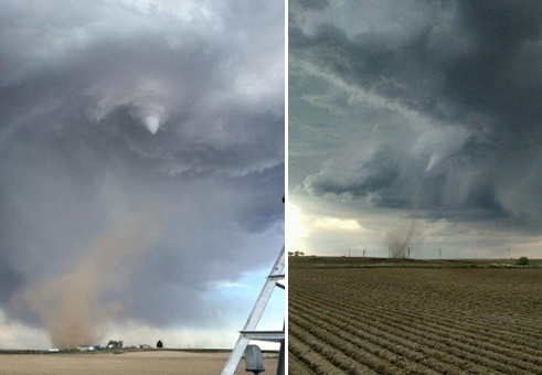 Tornado touches down in american falls
